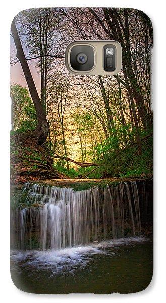 Beaver Galaxy S7 Case - Gypsy Glen  Rd Waterfall  by Emmanuel Panagiotakis