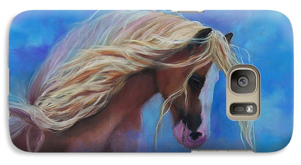 Galaxy Case featuring the pastel Gypsy In The Wind by Karen Kennedy Chatham