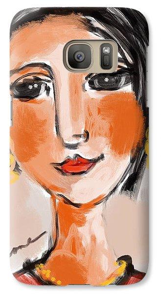 Galaxy Case featuring the digital art Gypsy Lady by Elaine Lanoue
