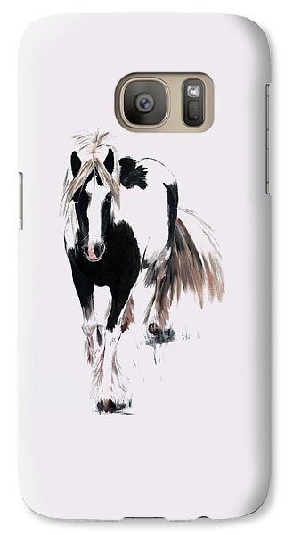 Galaxy Case featuring the painting Gypsy Vanner by Isabella F Abbie Shores FRSA