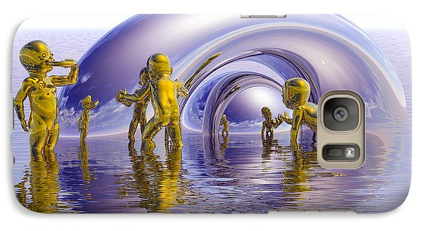 Galaxy Case featuring the painting H2O by Robby Donaghey