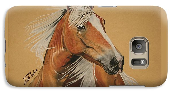 Galaxy Case featuring the pastel Haflinger  by Melita Safran
