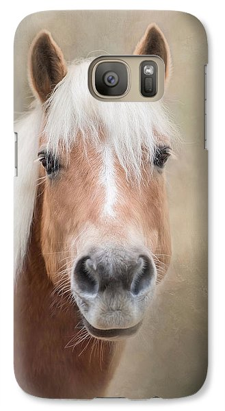 Galaxy Case featuring the photograph Haflinger by Robin-Lee Vieira