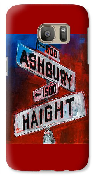 Galaxy Case featuring the painting Haight And Ashbury by Elise Palmigiani