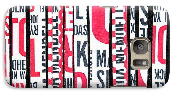 Galaxy Case featuring the mixed media Haiku In Red And Black by Elena Nosyreva