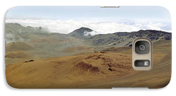 Galaxy Case featuring the photograph Haleakala Crater Panorama by Peter J Sucy
