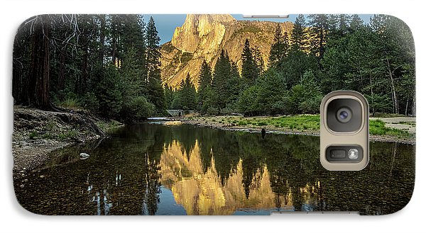 Half Dome From  The Merced Galaxy S7 Case by Peter Tellone