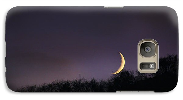 Galaxy Case featuring the photograph Half Moon by Martina  Rathgens