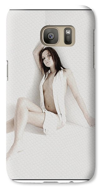 Galaxy Case featuring the photograph Half Naked Woman Is Studio by Michael Edwards