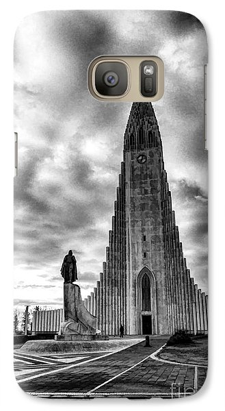 Galaxy Case featuring the photograph Hallgrims Kirkja Iceland by Rick Bragan