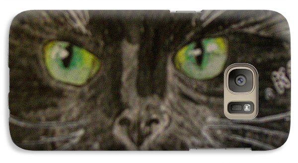 Galaxy Case featuring the painting Halloween Black Cat I by Kathy Marrs Chandler