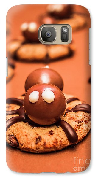 Spider Galaxy S7 Case - Halloween Homemade Cookie Spiders by Jorgo Photography - Wall Art Gallery