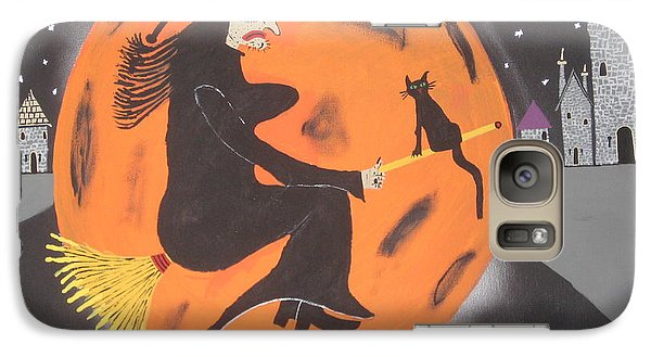 Galaxy Case featuring the painting Halloween Night At Disneyland by Jeffrey Koss
