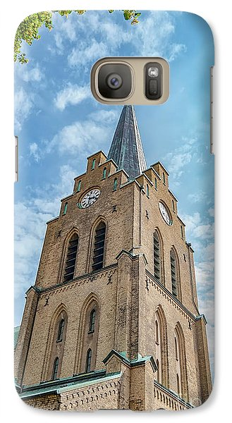 Galaxy Case featuring the photograph Halmstad Church In Sweden by Antony McAulay