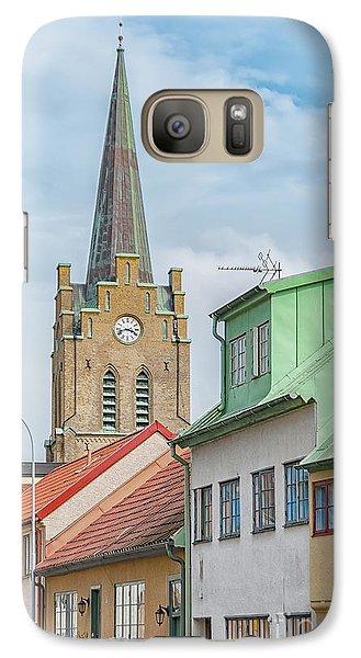 Galaxy Case featuring the photograph Halmstad Street Scene by Antony McAulay