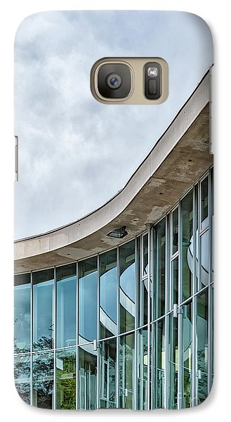 Galaxy Case featuring the photograph Halmstad University Labrary Detail by Antony McAulay