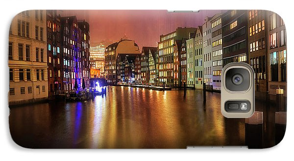 Galaxy Case featuring the photograph Hamburg By Night  by Carol Japp