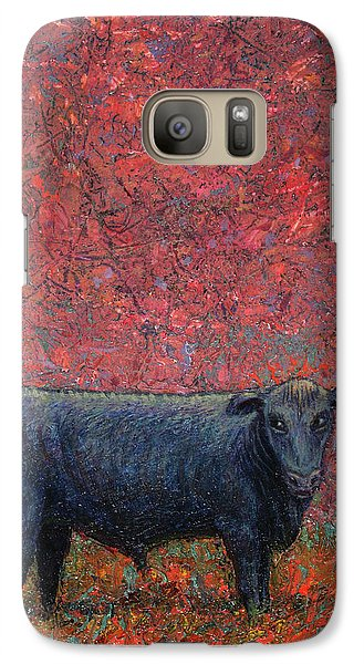 Bull Galaxy S7 Case - Hamburger Sky by James W Johnson