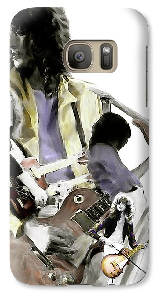 Hammer Of The Gods   Jimmy Page Galaxy S7 Case by Iconic Images Art Gallery David Pucciarelli