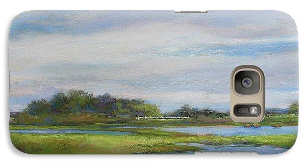 Galaxy Case featuring the painting Hammonassett Sky by Vikki Bouffard