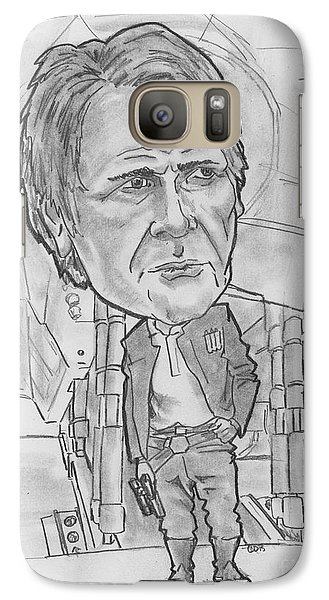 Galaxy Case featuring the drawing Han Solothe Force Awakens by Chris DelVecchio