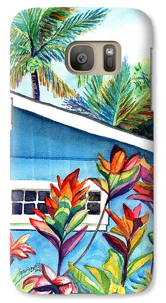 Galaxy Case featuring the painting Hanalei Cottage by Marionette Taboniar
