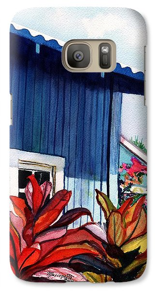 Galaxy Case featuring the painting Hanapepe Town by Marionette Taboniar