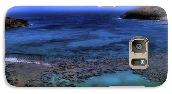 Galaxy Case featuring the photograph Hanauma Bay Panorama by Ellen Heaverlo