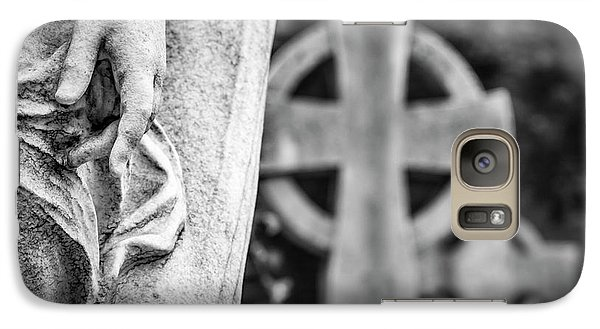 Galaxy Case featuring the photograph Hand And Cross by Sonny Marcyan