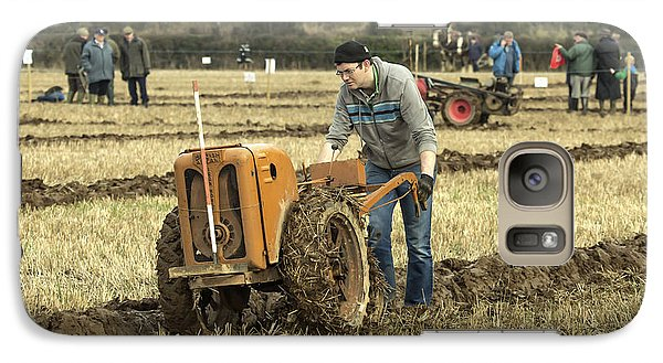 Galaxy Case featuring the photograph Hand Held Tractor Plough by Roy McPeak