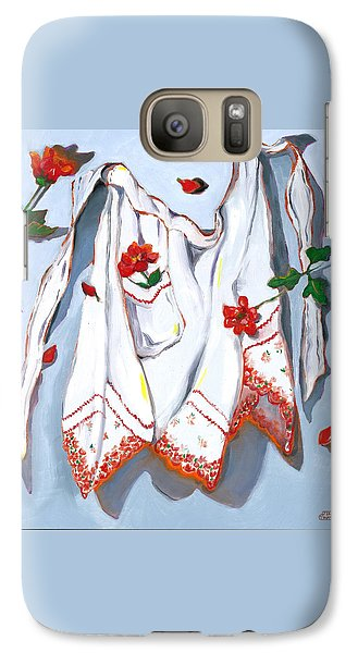 Galaxy Case featuring the painting Handkerchief Apron by Susan Thomas