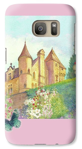 Galaxy Case featuring the painting Handpainted Romantic Chateau Summer Garden by Judith Cheng