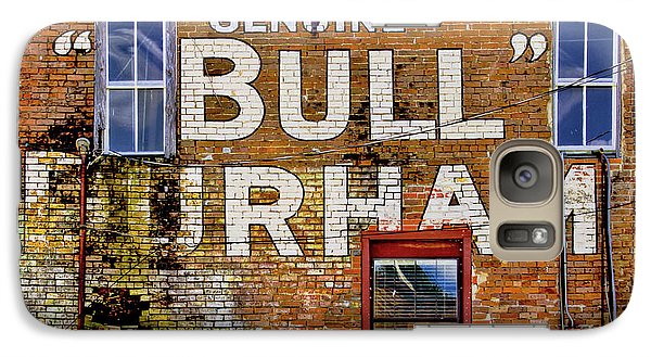 Galaxy Case featuring the photograph Handpainted Sign On Brick Wall by David and Carol Kelly