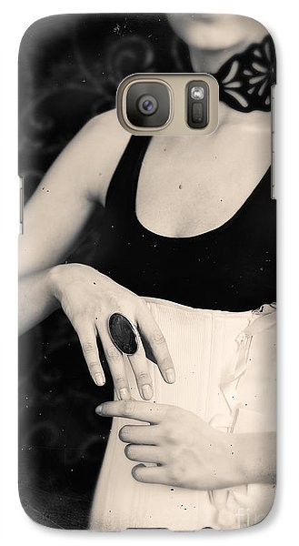 Galaxy Case featuring the photograph Hands Of A Young Girl With A Ring. by Andrey  Godyaykin