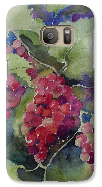 Galaxy Case featuring the painting Hanging Around by Sandra Strohschein