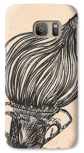 Galaxy Case featuring the drawing Hanging Basket by Al Goldfarb