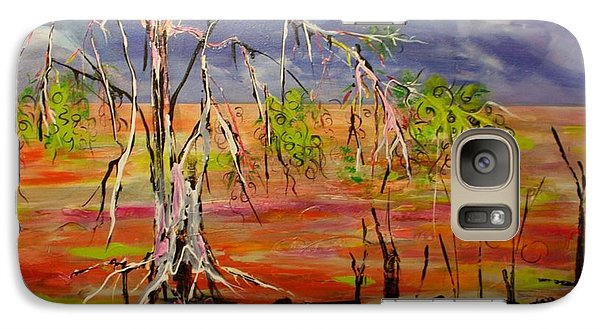 Galaxy Case featuring the painting Hanging On by Lyn Olsen