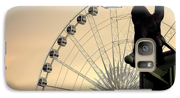 Galaxy Case featuring the photograph Hanging On The Wheel by Valentino Visentini