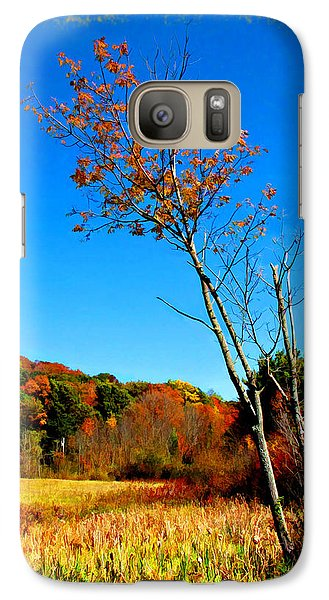 Galaxy Case featuring the photograph Hanging On To Autumn by Joan  Minchak