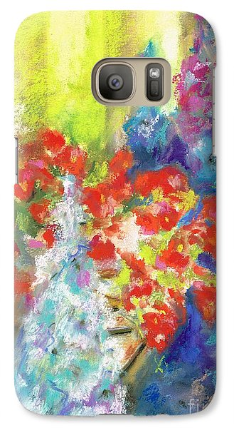 Galaxy Case featuring the painting Hanging With The Delphiniums  by Frances Marino