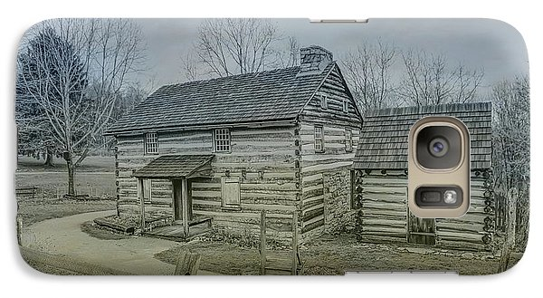 Galaxy Case featuring the digital art Hannastown Log Cabin One by Randy Steele
