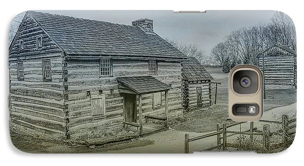 Galaxy Case featuring the digital art Hannastown Log Cabin Two by Randy Steele
