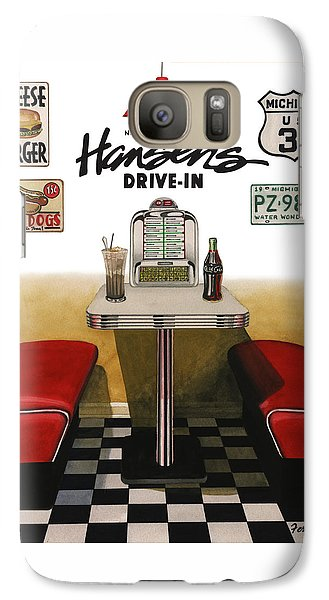 Galaxy Case featuring the painting Hansen's Drive-in by Ferrel Cordle