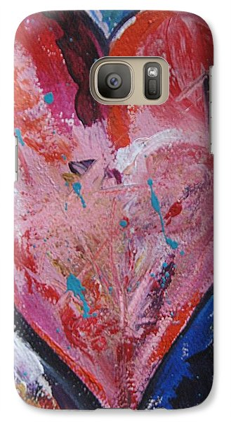 Galaxy Case featuring the painting Happiness by Diana Bursztein