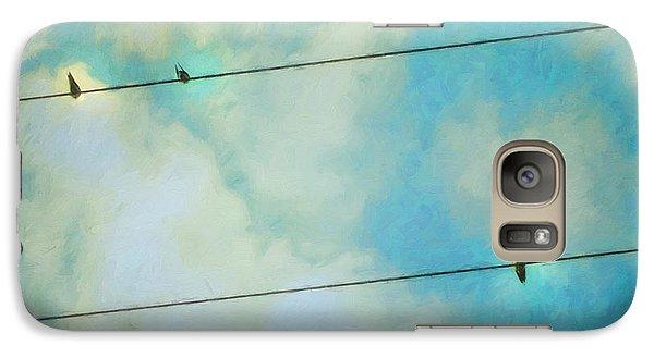 Swallow Galaxy S7 Case - Happiness by Priska Wettstein