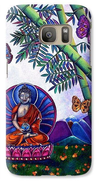 Galaxy Case featuring the painting Happy Buddha And Prosperity Bamboo by Lori Miller