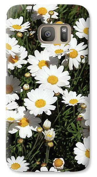 Daisy Galaxy S7 Case - Happy Daisies- Photography By Linda Woods by Linda Woods