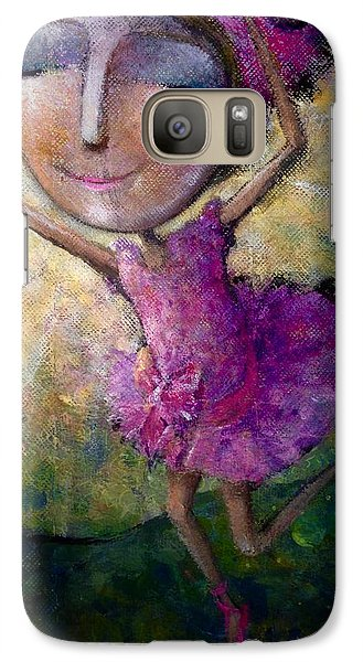 Galaxy Case featuring the painting Happy Dance by Eleatta Diver