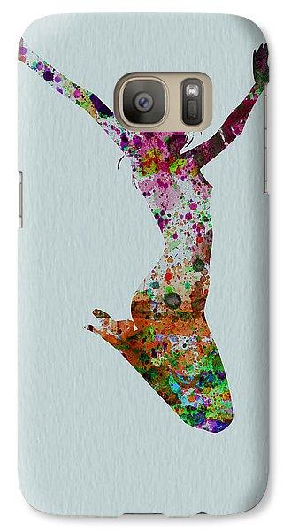 Happy Dance Galaxy Case by Naxart Studio