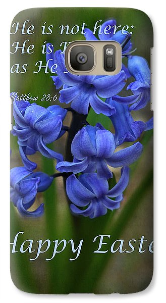 Galaxy Case featuring the photograph Happy Easter Hyacinth by Ann Bridges